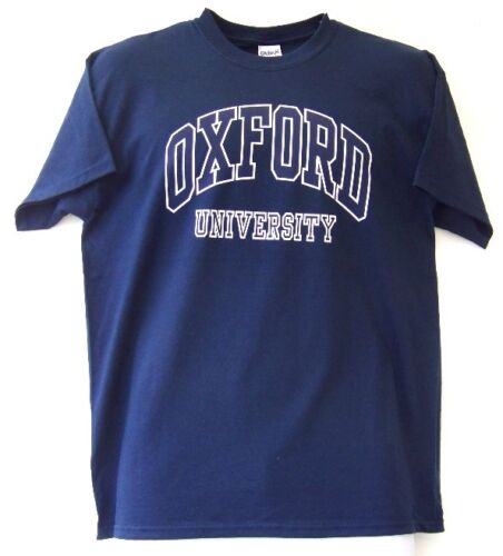 Shielded or Non shielded Red Oxford University T Shirt S Navy XXL Grey