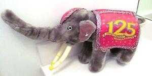 "RINGLING BROS BARNUM & BAILEY 125TH ANNIVERSARY 22"" KING TUSK ELEPHANT PLUSH TOY"