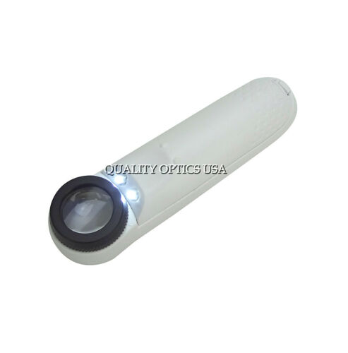 40x Jeweler loupe LED Light Magnifier Magnifying Glass Doublet loop Watch Repair