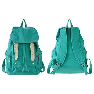 Womens Girls Canvas Shoulder Bag Backpack Satchel School Handbag Travel