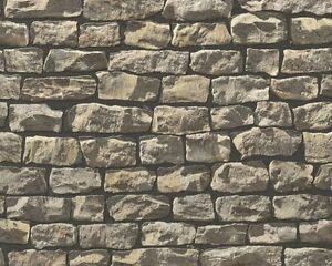 vlies tapete wood n stone 9079 12 beige braun stein mauer. Black Bedroom Furniture Sets. Home Design Ideas