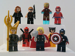 LEGO-Marvel-Avengers-Minifigures-Black-Widow-Hawkeye-Iron-Man-Hulk-Loki-amp-more