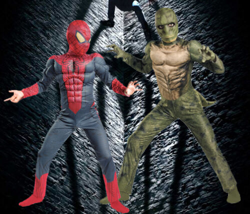 Child Movie The Amazing Spider-man Classic Muscle Chest Spider Lizard Costume