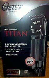 Oster-TITAN-Heavy-Duty-Clipper-w-cryogen-x-blade-system-76076-310-NEW