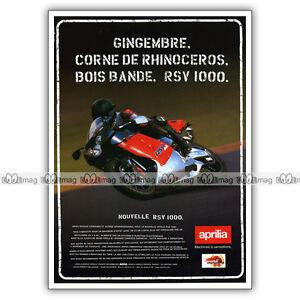 Pub Aprilia Rsv 1000 - Original Advert / Publicité Moto De 1999 Lai0wfbd-08005108-165651726