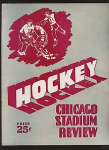 Jan 25 1953 NHL Program Toronto Maple Leafs at Chicago Black Hawks VGEX