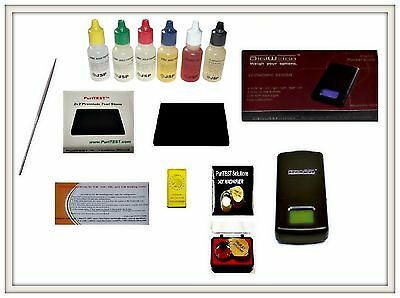 Gold Silver Acid Testing Kit Electronic Tester Digital Scale14K Loupe Stone File
