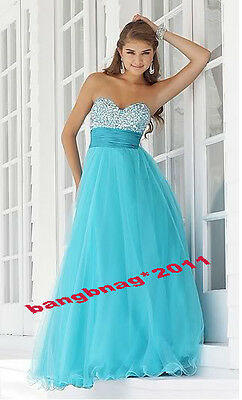 New Hot Long Prom Dress Party Sweetheart Bridesmaid Evening Dress Stock Size6-16