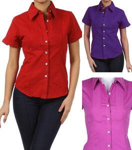 New cotton short sleeve top rhinestone button down shirt for Best short sleeve button down shirts reddit
