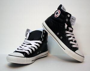 b52e9b37698c Chuck Taylor Converse All Star Padded Collar HI-Top Black Leather ...