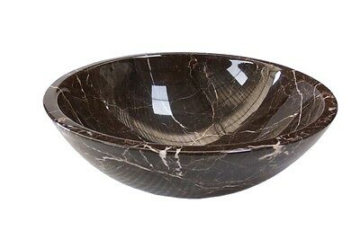 Solid Stone MARBLE Round Brown Counter Top Basin Vanity Bowl No.16 NEW MODERN