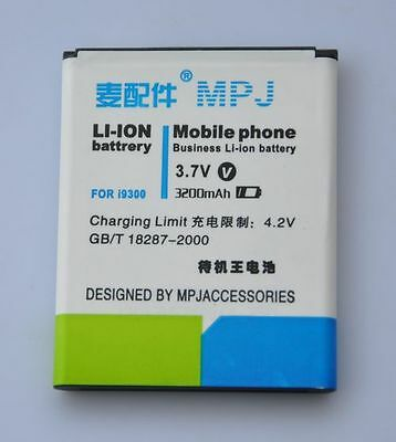 3200mAh High Capacity Extended Battery for Samsung Galaxy S3 III i9300 MPJ Brand