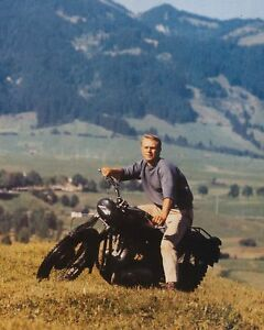 Sell My Motorcycle >> THE GREAT ESCAPE STEVE MCQUEEN ON MOTORCYCLE GREAT CLASSIC PHOTO | eBay
