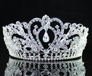 GORGEOUS-CLEAR-AUSTRIAN-RHINESTONE-CRYSTAL-TIARA-CROWN-BRIDAL-PROM-PAGEANT-H1339