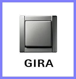 gira lichtschalter aus wechsel edelstahl serie 20 komplett mit rahmen neu ebay. Black Bedroom Furniture Sets. Home Design Ideas