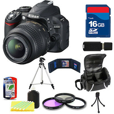 Nikon D3100 (Black) w/ 18-55mm VR Lens + 16GB Filter Kit