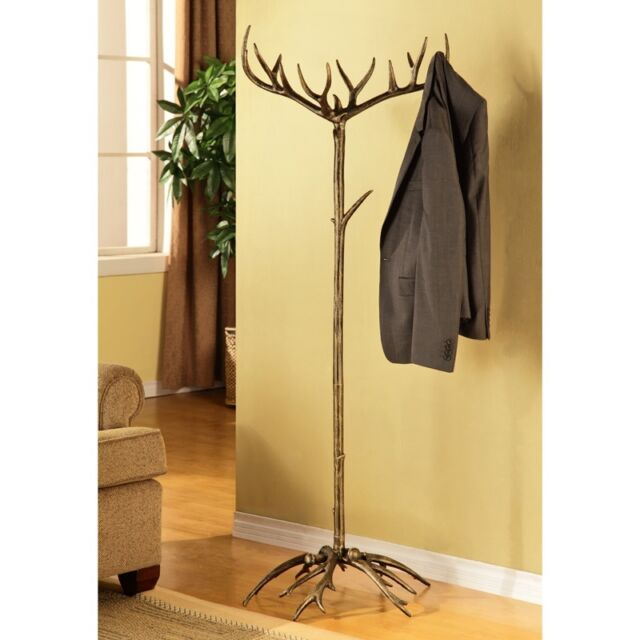 "Antler Coat  Hat Rack Stand 65"" Hanger Rustic Lodge PLUS $40.00 Free Linens"