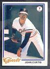 1978 Topps John Curtis #486 Baseball Card
