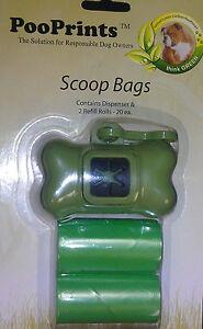 Green Pet Waste Dog Poop Scoop Bags with Dispenser