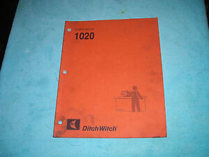 Ditch-Witch-1020-Trencher-Parts-Manual