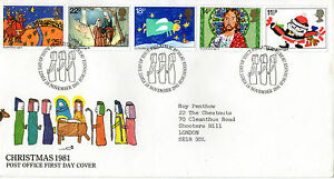 18-NOVEMBER-1981-CHRISTMAS-POST-OFFICE-FIRST-DAY-COVER-BUREAU-SHS
