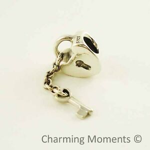 New-Authentic-Pandora-Silver-Charm-Key-to-My-Heart-790971-Bead