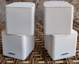 Set Of 2 Bose Jewel Double Cube Speakers White Ebay