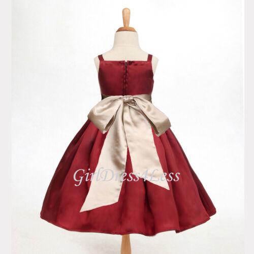 APPLE RED SPAGHETTI STRAPS JUNIOR FLOWER GIRL HOLIDAY DRESS 12-18M 2 4 6 8 10 12
