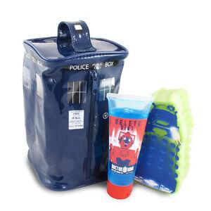 Dr-Who-Bath-Shower-Set-wash-bag-sponge-amp-bath-shower-gel-great-gift