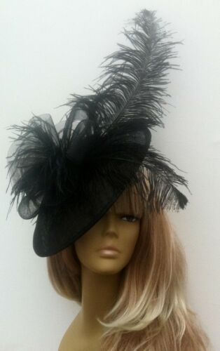 Bespoke Design Black Feather Hat Mother Of The Bridegroom Weddings Ascot Races