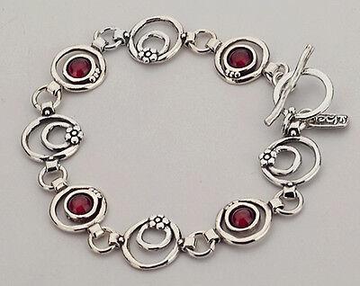 B00368GR SHABLOOL ISRAEL Didae Handcrafted Garnet Sterling Silver 925 Bracelet