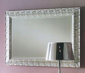 Specchiera in legno lavorato col argento molata xcamera - Specchi da soggiorno ...