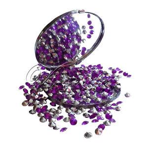 1000-Purple-Silver-Diamond-Table-Confetti-Beads-Wedding-Party-Decor-4-5mm-1-3ct