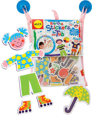 New Stickers for The Bath Tub Stick On Foam Shapes in Net Play Pals Alex