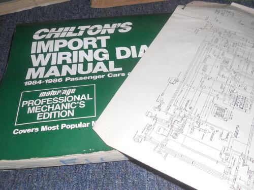 1986 SUBARU 1800 SEDAN WAGON WIRING DIAGRAMS MANUAL SCHEMATICS SHEETS SET