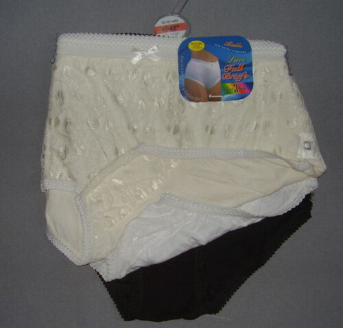 ladies full pants briefs knickers lacy front pack of 3 sizes 12 to 26