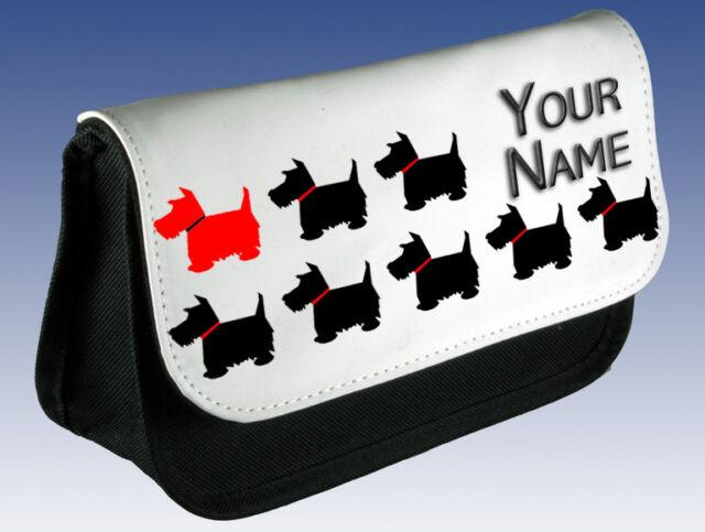SCOTTISH TERRIER DOG PERSONALISED MAKE UP BAG / PENCIL / DS CASE - GIFT & NAMED