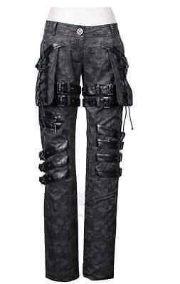 New Unisex PUNK Rave Heavy Metal Gothic Grey pants K-111 ALL STOCK IN AUSTRALIA