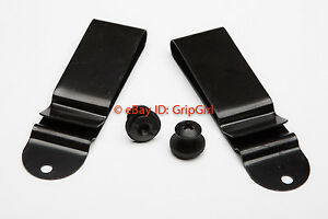 Set-of-2x-Pair-IWB-Black-Clips-Mounting-Hardware-Custom-Hybrid-Kydex-Holster-Kit