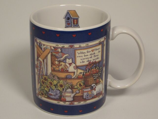 1996 Lang and Wise Mug Cup Within This Home Susan Winget Country House Birdhouse