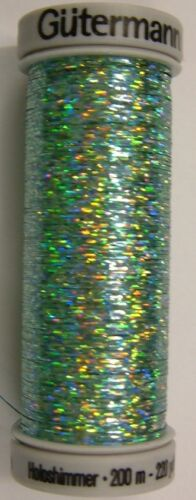fly tying Gutermann Sulky Holoshimmer Thread 200m spool for embroidery
