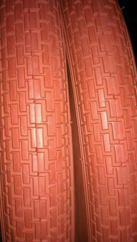 BRICK PATTERN CLAY COLOR 2 DURO 24X2.125  BEACH CRUISER  BICYCLE TIRES TWO