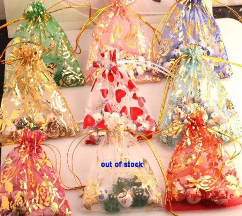 Gauze Organza Gift Bag Jewelry Packing Pouch Wedding Favor Gift Bags 10x12cm
