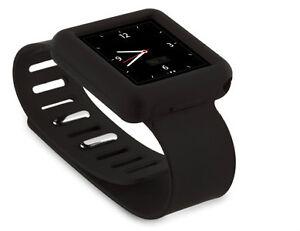 GRIFFIN-Courier-Band-Slap-Case-Armband-Wristwatch-iPod-Nano-6G-8GB-16GB-BLACK