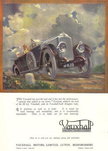 "Ad46 Vintage Vauxhall Motor Car Anuncio Cartel A4 11,7 /""x 8,3/"" volver a imprimir"