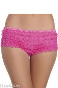 Green Lace Layered Ruffle Panty Panties Underwear Layers Hot Pink ...