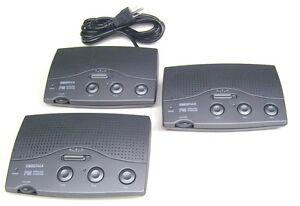 Black-3-channel-3-station-FM-wireless-home-intercom-power-line-system-3-wire