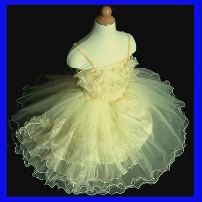 USAYe601 Christmas Yellows Flower Girls Dress Size 2,3,4,5,6,7,8,9,10 Years