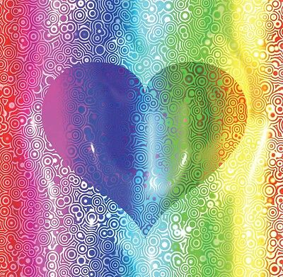 "Quality Gay Lesbian Birthday Blank Greetings Cards ""Unique Designs"" Rainbow"
