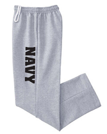Open bottom sweatpants US United States Navy USN no cuff cuffless sweats pants
